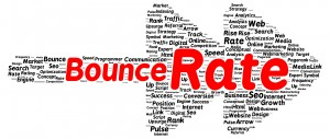 Bounce rate word cloud shape