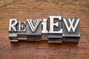 review word in metal type
