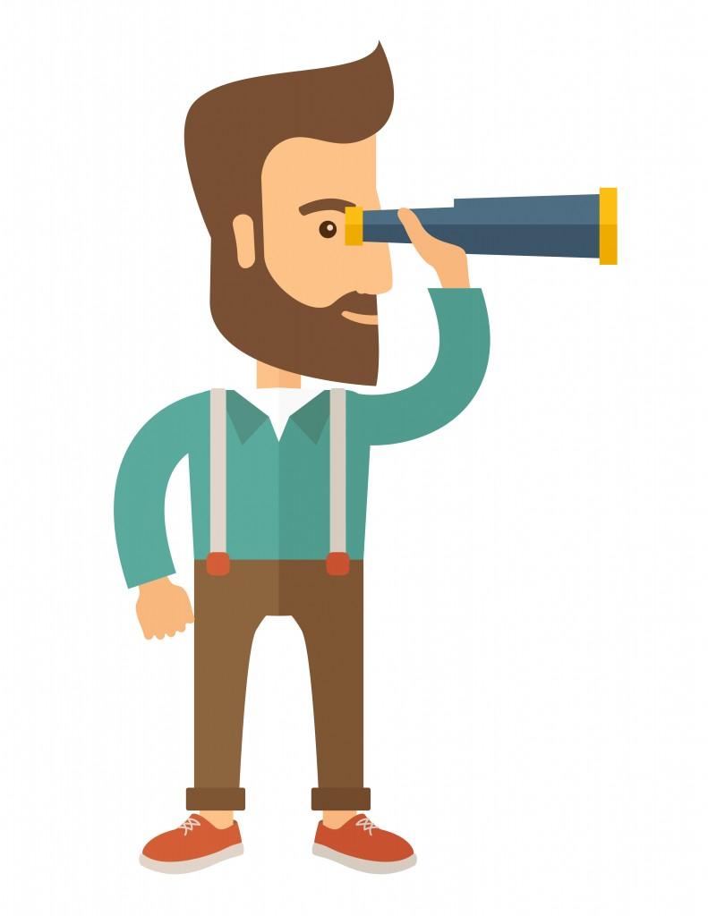 Man with binocular